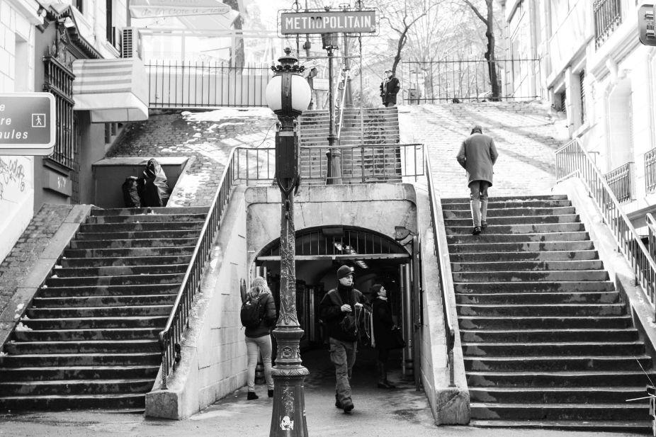 Lamarck - Caulaincourt Metro in Montmartre