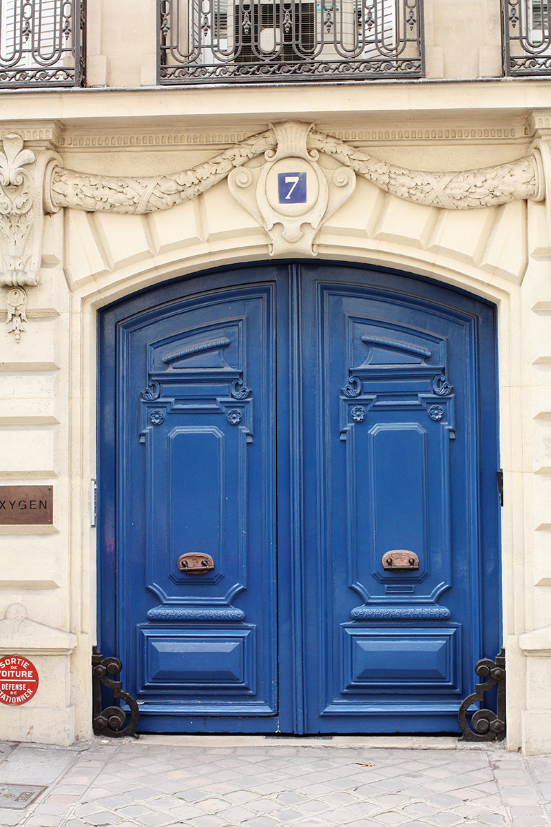 Paris Blue Doors. More Door Envy.