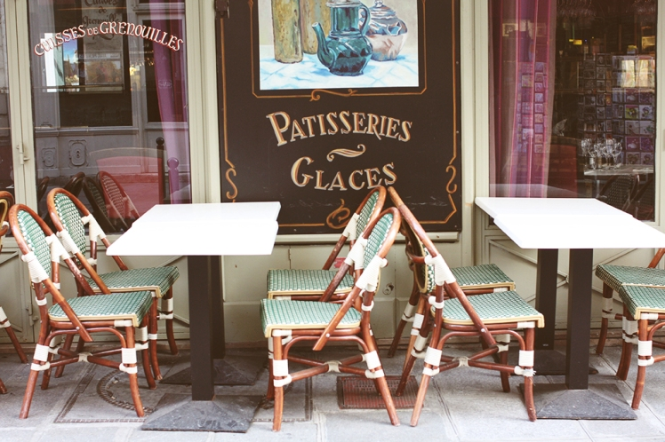 Paris cafe in Mint Green