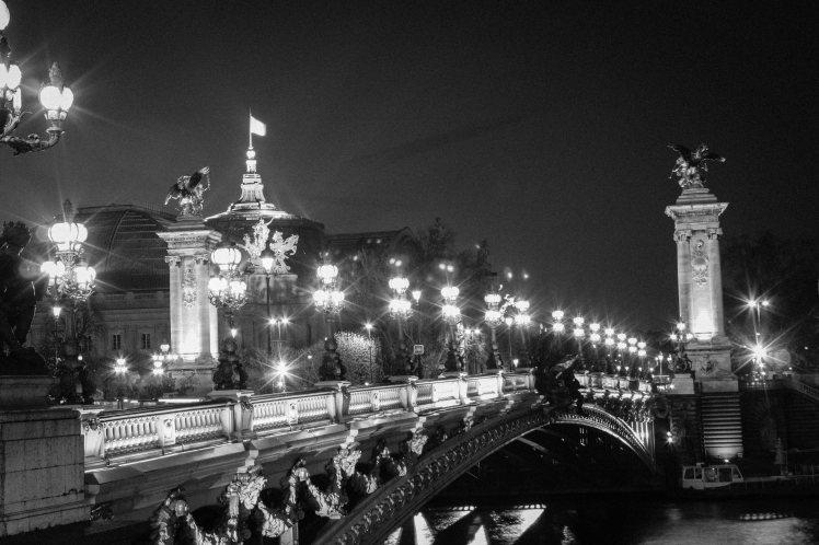 Pont Alexandre III at night