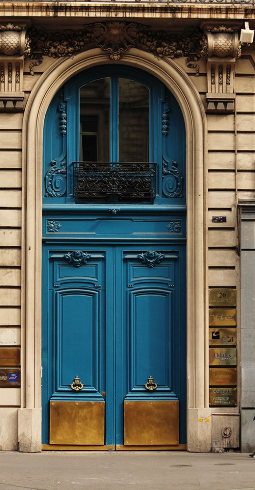Parisian Blue Door