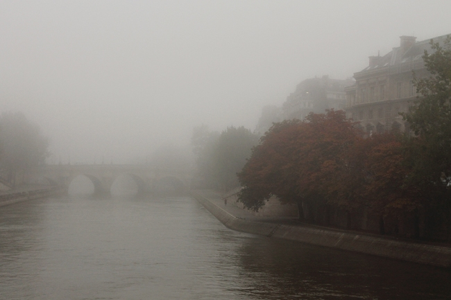foggy morning on the seine