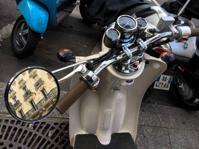 Paris Vespa Reflection