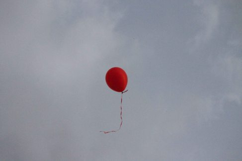 red balloon in paris