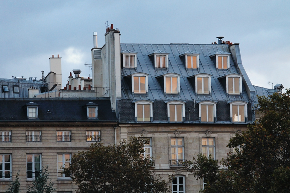 Windows on the Seine - Nightfall in Paris