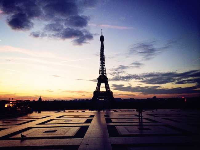 trocadero sunrise