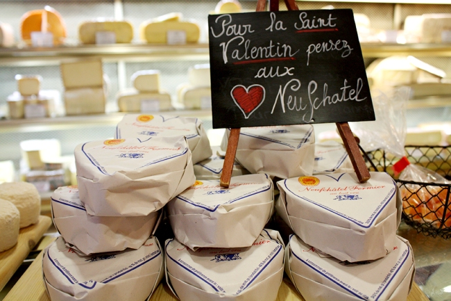 heart shaped cheese paris
