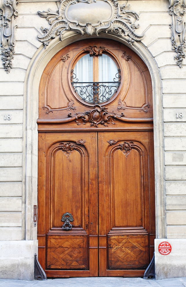paris brown door