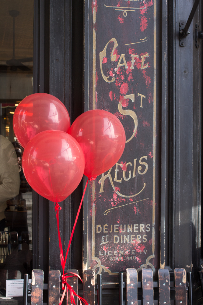 Cafe St Regis Red Balloons