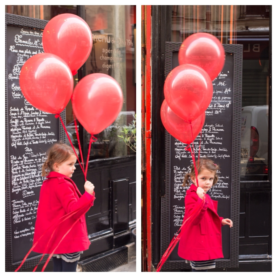 Red Balloons Girl Paris